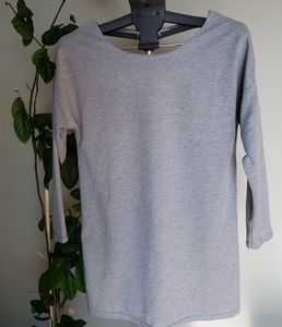 CLEARANCE!! Grey open back tunic length top